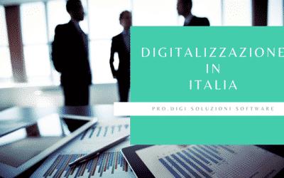 La digitalizzazione in Italia